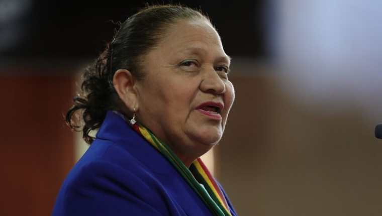 La fiscal general María Consuelo Porras informa sobre el retiro de su personal de la Cicig porque, según ella, la entidad ya no trabaja en el país. (Foto HemerotecaPL)