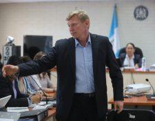 El ciudadano ruso Igor Vladimirovich Bitkov declaró durante el segundo día del debate en el caso Migración. (Foto Prensa Libre: Érick Ávila)