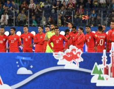 Los jugadores de la selección chilena se han puesto como objetivo la clasificación a Rusia 2018. (Foto Prensa Libre: AFP)