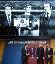Cruyff fue recordado por medio de videos e imágenes durante la ceremonia de este sábado. (Foto Prensa Libre: AFP)