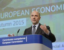 El comisario europeo de Asuntos Económicos, Pierre Moscovici, es optimista respecto de Grecia. (Foto Prensa Libre: AFP)