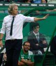 El técnico del Sporting confía en tener buenos resultados está temporada. (Foto Prensa Libre: AFP)