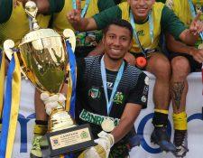 Juan José Paredes fue el portero titular de Guastatoya, en la conquista de la corona del futbol nacional. (Foto Prensa Libre: Hemeroteca PL)