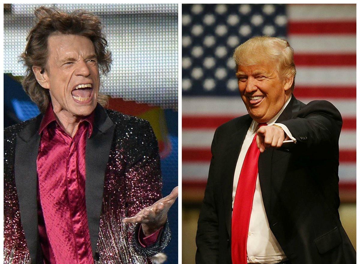 Los Rolling Stones pidieron al candidato Donald Trump que use más sus canciones. (Foto Prensa Linbre: AFP)