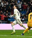 Luka Modric sentenció la victoria del Real Madrid contra el Sevilla, 2-0. (Foto Prensa Libre: AFP)