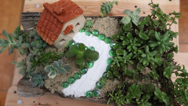 Los jardines en miniatura son un atractivo elemento que permite disfrutar de una idealizada naturaleza. (Foto Prensa Libre, Brenda Martínez)