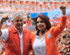 Otto Pérez Molina y Roxana Baldetti fueron los candidatos presidenciales en 2011 del Partido Patriota. (Foto Prensa Libre: Hemeroteca PL)