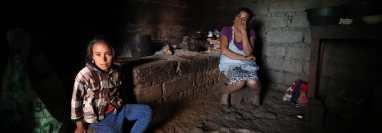 Familias de Santa María Xalapán tienen malas cosechas, no tienen trabajo ni atención gubernamental. (Foto Prensa Libre: Esbin García)