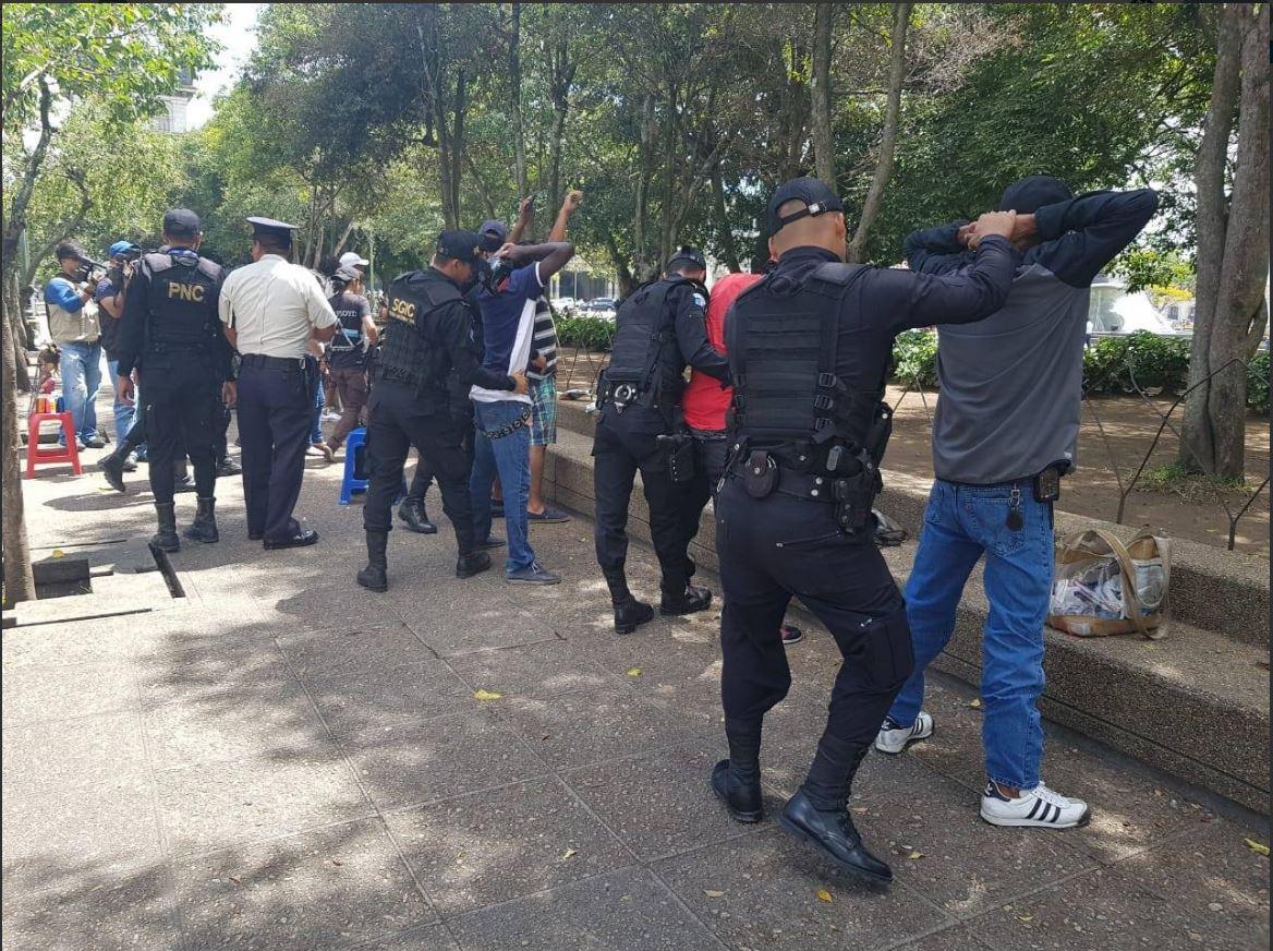 Redada contra vendedores de droga en el Centro Histórico