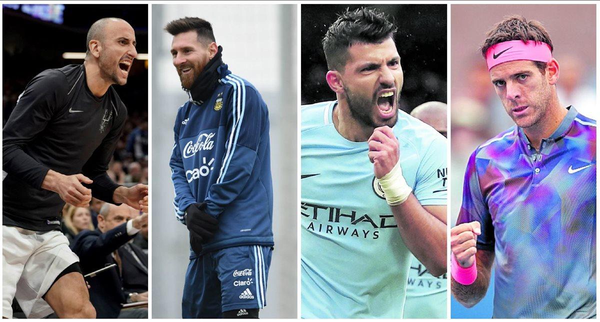 Manu Ginóbili cuenta con el apoyo de sus compatriotas, Leo Messi, Kun Agüero y Juan Martín Del Potro. (Foto Prensa Libre: Agencias)