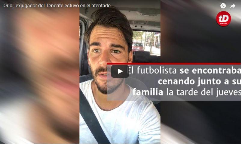 Edu Oriol, el futbolista que presenció el atentado en Barcelona