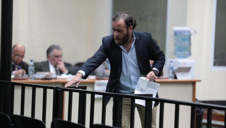Juan Arturo Jegerlehner Morales —concuño de Alejandro Sinibaldi— aceptó que recibio dinero de Odebrecht para Sinibaldi. (Foto Prensa Libre: Álvaro Interiano)