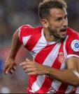 El uruguayo Cristhian Stuani, del Girona, es el máximo goleador de la Liga. (Foto Prensa Libre: BBC News Mundo)