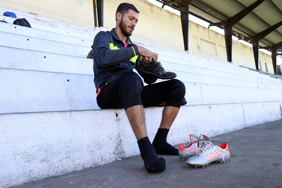 José Rodríguez será el guardameta de Antigua GFC, en el partido contra Cobán Imperial. (Foto Prensa Libre: Renato Melgar)