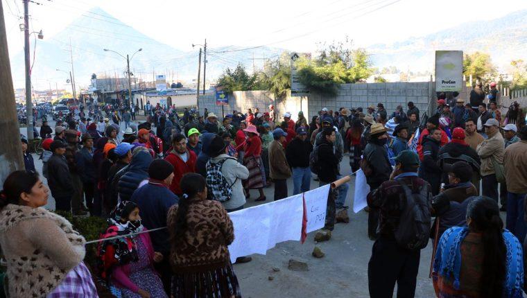 La propuesta de implementar el POT ha causado manifestaciones en el área rural de Xela. (Foto Prensa Libre: Hemeroteca PL).