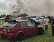 La Cruz Roja reporta un lahar del Volcán de Fuego en la barranca Las Lajas.