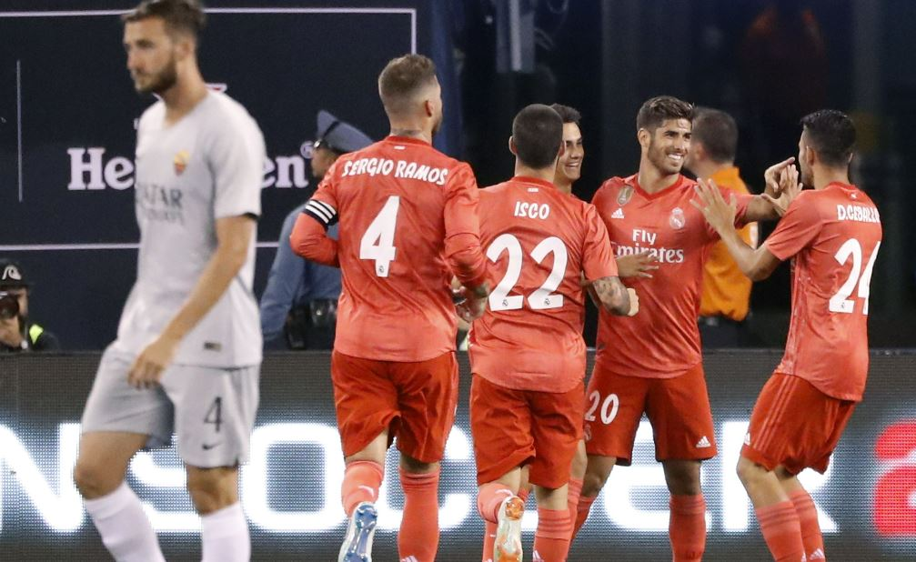 Real Madrid vence 2-1 al AS Roma en partido de la International Champions Cup