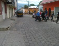 Lugar donde ocurrió el ataque contra Víctor Hugo Valdes Cardona, en la zona 1 de Chiquimula. (Foto HemerotecaPL)