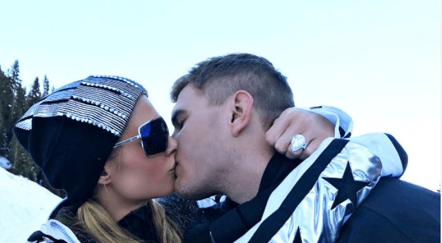 Paris Hilton y el actor Chris Zylka se comprometen