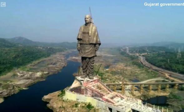 Así es la estatua más alta del mundo que mide 182 metros