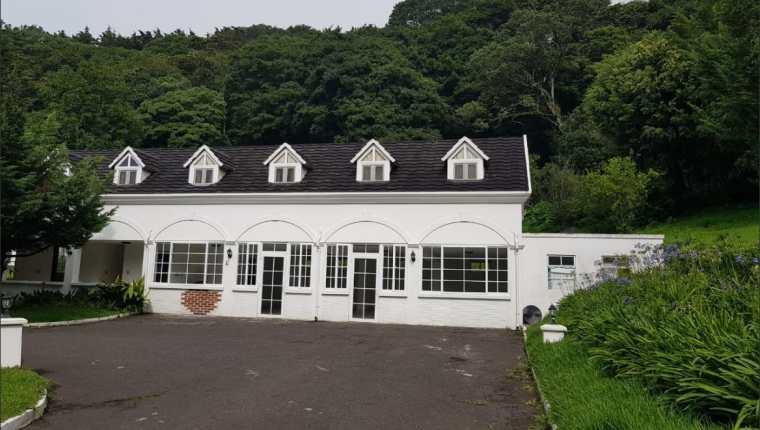 Se supone que en la propiedad extinguida a Baldizón funcionaba un lujoso hotel. (Foto Prensa Libre: Ministerio Público)