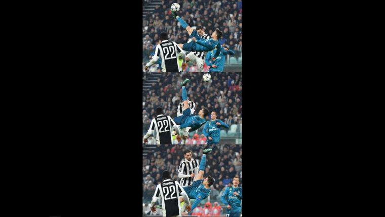 La secuencia del gol de chilena de Cristiano Ronaldo. (Foto Prensa Libre   AFP 815e72a9da38b