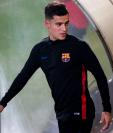 El brasileño Philippe Coutinho se prepara para debutar con el Barcelona. (Foto Prensa Libre: EFE)
