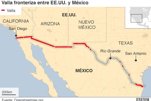 Ya hay unos mil 50 kilómetros de valla construida a lo largo de la frontera.