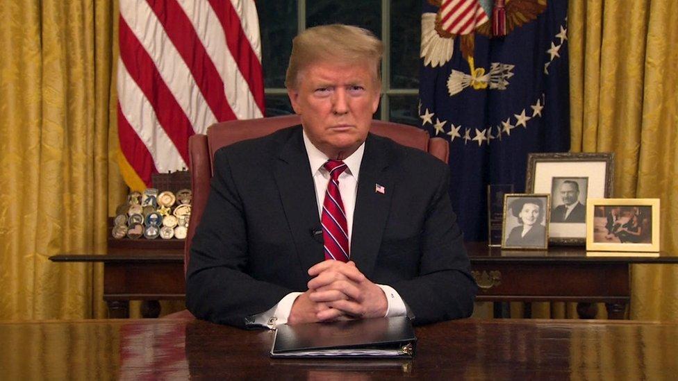 Trump dirigió su primer mensaje a la nación.