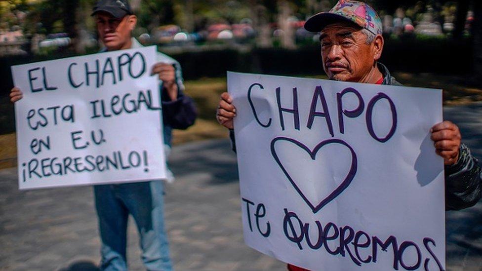 En México hay hasta quienes piden que html5-dom-document-internal-entity1-quot-endEl Chapohtml5-dom-document-internal-entity1-quot-end sea liberado de Estados Unidos. GETTY IMAGES