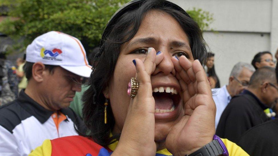 Venezuela ha sido escenario de multitudinarias protestas contra el gobierno Nicolás Maduro. GETTY IMAGES