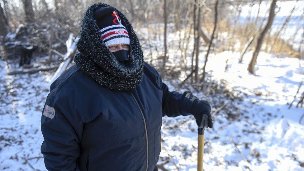 Los vientos helados que soplan esta semana en EE.UU. producen una sensación térmica de hasta -53ºC. EPA