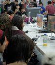 Las partidas de Super Smash Bros. fueron de las que más 'gamers' congregaron durante el evento (Foto Prensa Libre: José Ochoa).