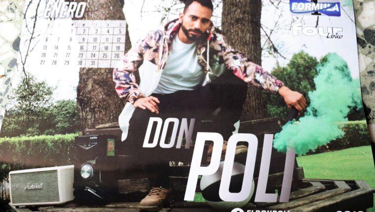 Don Poli, el rapero quetzalteco, es el primero en el calendario al representar al mes de enero de 2019. (Foto Prensa Libre: Raúl Juárez)