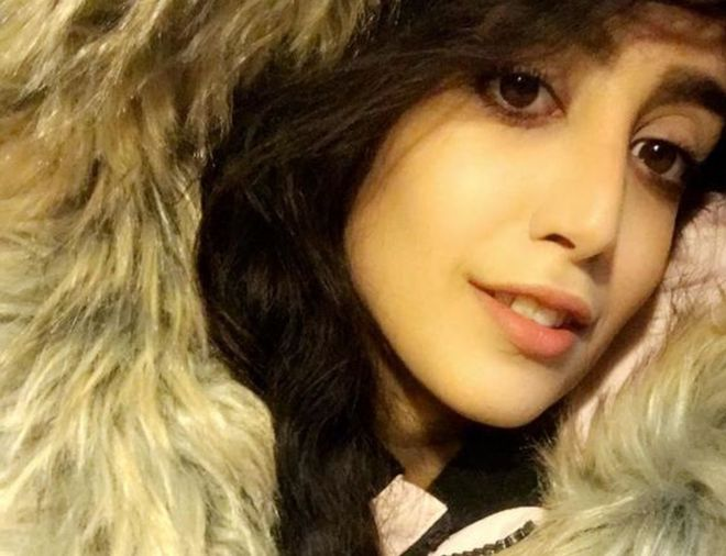 Salwa, de 24 años, huyó de su familia hace ocho meses y pidió asilo en Canadá. SALWA