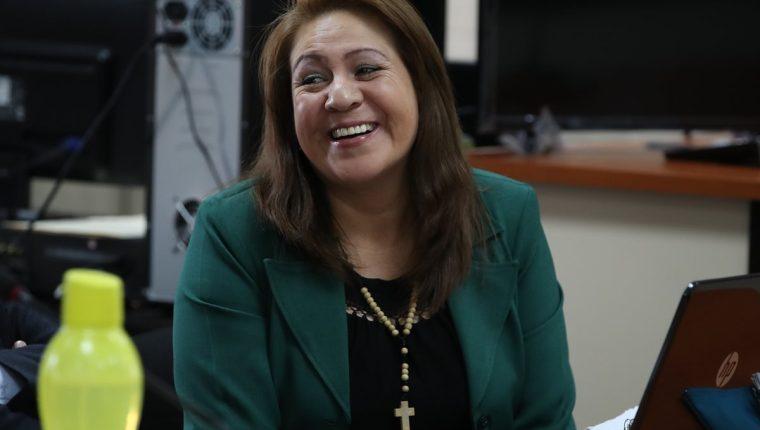 La exdirectora de la PNC Marlene Blanco Lapola es señalada de haber dirigido una banda que ejecutaba extrajudicialmente a extorsionistas. (Foto Prensa Libre: Paulo Raquec)