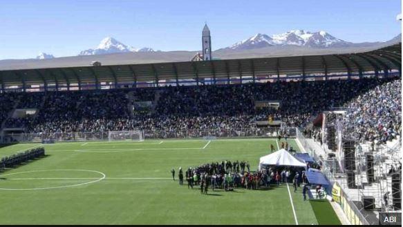 El estadio fue aprobado para la práctica profesional hace apenas unos días. ABI
