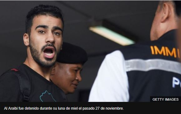 Al Araibi fue detenido durante su luna de miel el pasado 27 de noviembre. GETTY IMAGES