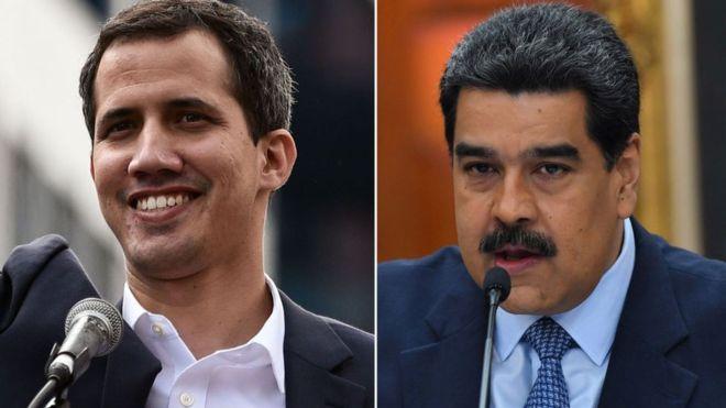 La juramentación de Guaidó ha creado una situación sin precedentes en Venezuela. GETTY