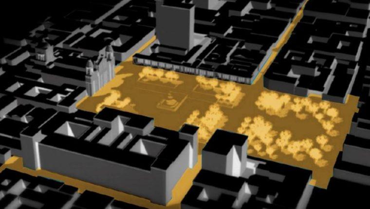 El proyecto pretende cambiar la forma en que se mira el Centro Histórico. (Foto Prensa Libre: Cortesía)