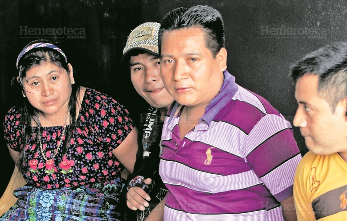 Juan Peruch Mejía, Augusto Baten Soc; Francisco Baten Soc y Rosa María Patzán Ajvix, fueron detenidos en julio del 2017, sospechosos de asesinar a los niños. (Foto Prensa Libre: Hemeroteca PL)
