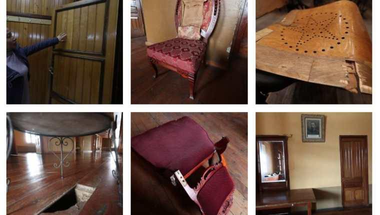 Las autoridades del Teatro Municipal esperan que la oficina del Centro Histórico evalúe los daños que tiene el edificio y haga un estimado de las restauraciones. (Foto Prensa Libre: Mynor Toc)