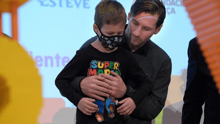 El astro argentino Lionel Messi encabeza la lucha contra el cáncer infantil. (Foto Prensa Libre: AFP)