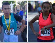 Alberto González y Heidy Villegas fueron los ganadores de la primera competencia del año, la Carrera del Ingeniero. (Foto Prensa Libre: Francisco Sánchez)