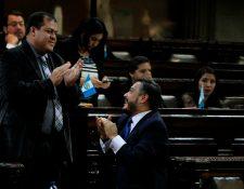 El diputado Julio Juárez -de pie - está sindicado de ser el autor intelectual del asesianto de los periodistas en Suchitepéquez. (Foto Prensa Libre: Hemeroteca PL)