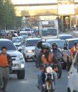 Cambio de vías pretende disminuir el tránsito en la zona 12. (Foto Prensa Libre: Hemeroteca PL)