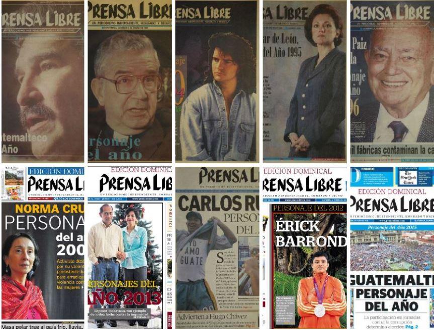 Conozca a los Personajes del Año de Prensa Libre desde 1992