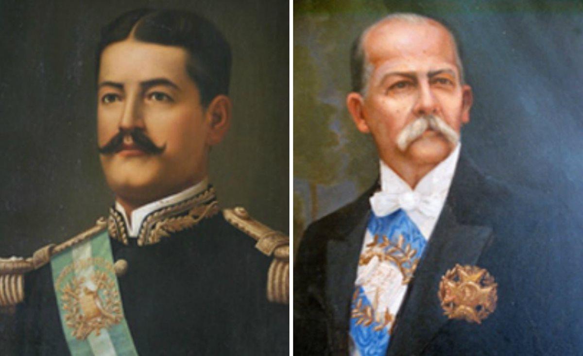 José María Reina Barrios y Manuel Estrada Cabrera, presidentes de Guatemala. (Foto Prensa Libre: Hemeroteca PL)