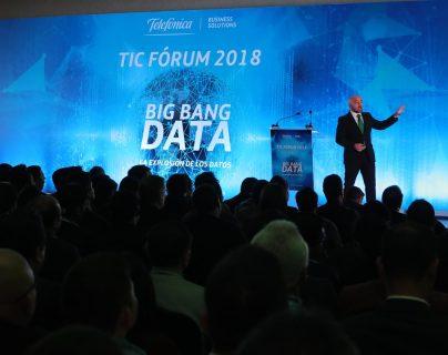 El Tic Forum 2018, organizado por Telefónica, se realizó en el hotel Intercontinental. (Foto Prensa Libre: Estuardo Paredes)