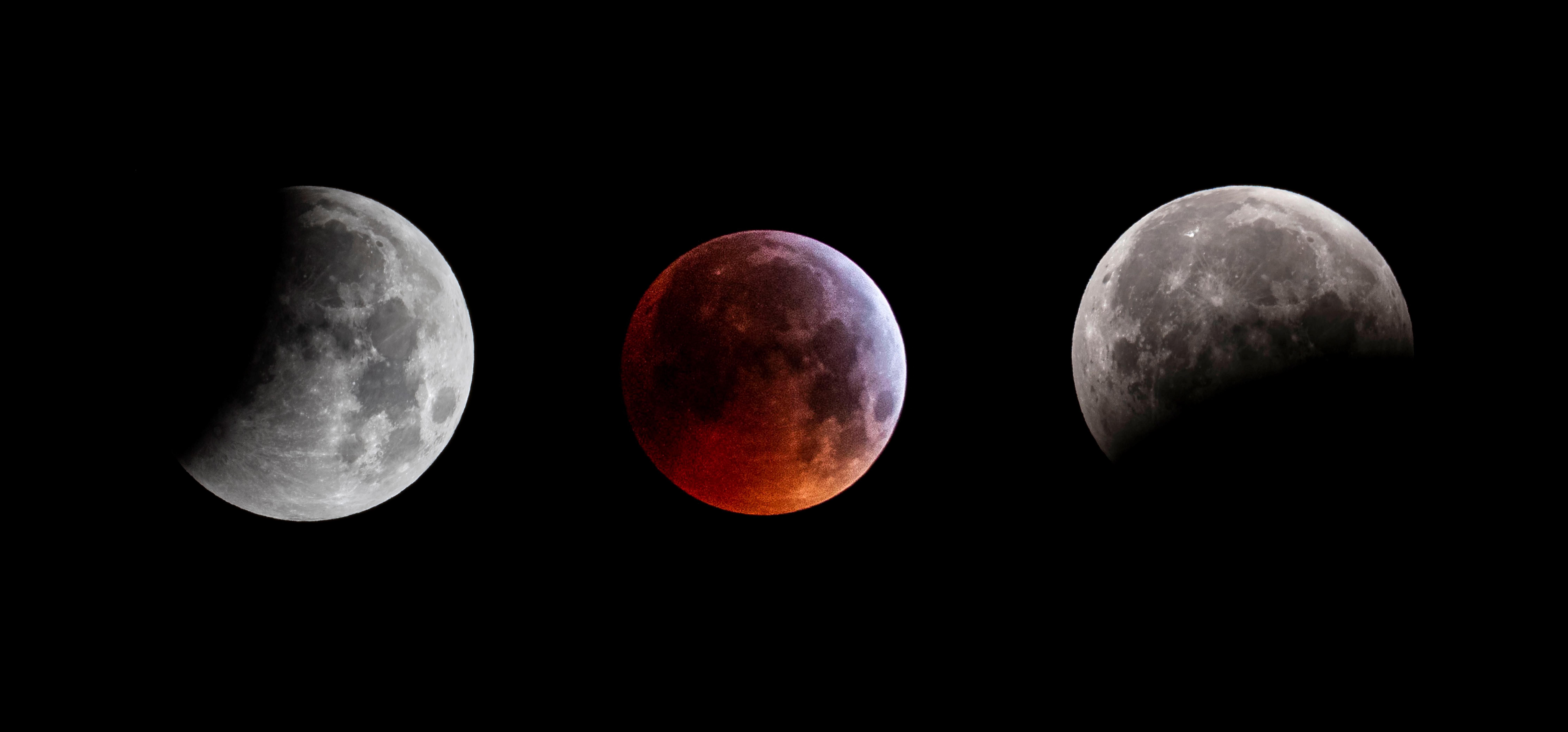 La Superluna pudo apreciarse en varias partes del mundo la noche del domingo último. (Foto Prensa Libre: EFE)